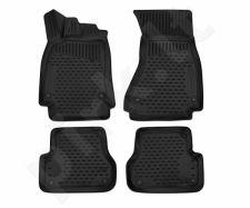 Kilimėliai 3D AUDI A6 (C7) 2012-> Avant, Allroad, 4 pcs. black /L03018
