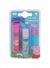 Peppa Pig Lovely Lip Balms, Peppa, rinkinys lūpų balzamas vaikams, (lūpų balzamas 4,2 g + lūpų balzamas 4,2 g Vanilla), (Strawberry)