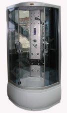Masažinė dušo kabina R8080 grey/mirror