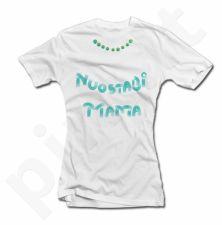 """Moteriški marškinėliai """"Nuostabi mama su karoliukais"""""""