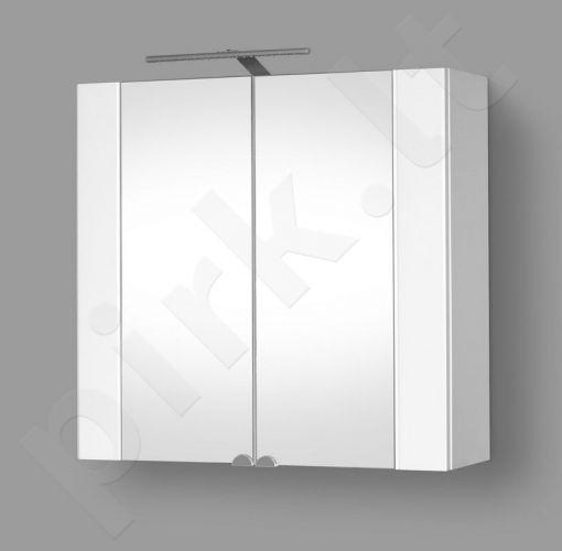Pakabinama vonios spintelė su veidrodinėmis durimis, LED apšvietimu ir rozete RIVA SV80-10