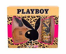 Playboy Play It Wild For Her, rinkinys tualetinis vanduo moterims, (EDT 90 ml + DSP 150 ml)