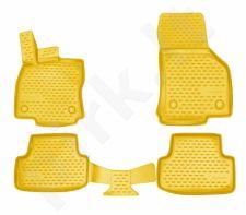 Kilimėliai 3D AUDI A3 2012 - 2016, 2016-> hb 4 pcs. beige /L03014B