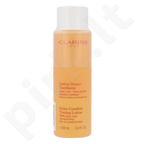 Clarins Extra Comfort valomasis losjonas Dry Skin, kosmetika moterims, 200ml, (testeris)