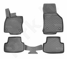 Kilimėliai 3D AUDI A3 2012 - 2016, 2016-> hb 4 pcs. gray /L03014G
