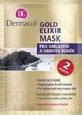 Dermacol Gold Elixir kaukė, 16ml, kosmetika moterims