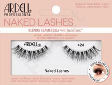 Ardell Naked Lashes, 424, dirbtinės blakstienos moterims, 1pc, (Black)