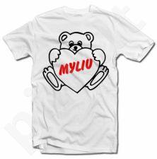"""Marškinėliai """"Myliu"""""""