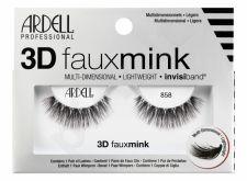 Ardell 3D Faux Mink, 858, dirbtinės blakstienos moterims, 1pc, (Black)