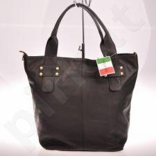 MADE IN ITALY Spalla 086 juoda itališka rankinė iš natūralios odos