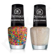 Dermacol nagų lakas With Effect, kosmetika moterims, 5ml, (19 Petrol Stardust)
