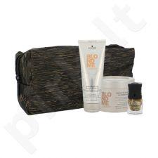 Schwarzkopf šviesių plaukų rinkinys moterims, (šampūnas su keratinu atkūriamasis 250 ml + plaukų kaukė su keratinu atkūriamoji 200 ml + nagų lakas alessandro 5 ml Golden Sun)
