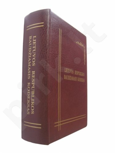 Knyga-Baras: Baudžiamasis kodeksas