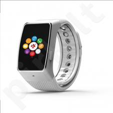 MyKronoz Smartwatch  ZeWatch4  Silver/ white, 200 mAh, Touchscreen, Bluetooth, Heart rate monitor, Waterproof