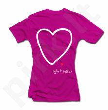 """Moteriški marškinėliai """"Myliu ir taškas"""""""