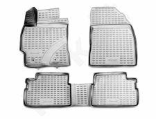 Guminiai kilimėliai 3D TOYOTA Corolla 2013->, 4 pcs. /L62009G /gray