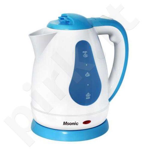 Elektrinis virdulys Msonic MEN438WB | 1,8l, 1800W | balta-mėlyna
