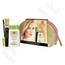 Dermacol Ultra Tech blakstienų tušas Duo Kit rinkinys moterims, (10ml Ultra Tech blakstienų tušas + 125ml jautrių  akių makiažo valiklis + krepšys) , (Black)