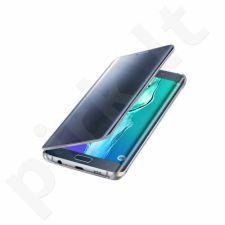 Samsung Galaxy S6 EDGE+ skaidrus atverčiamas dėklas ZG928CBE juodas