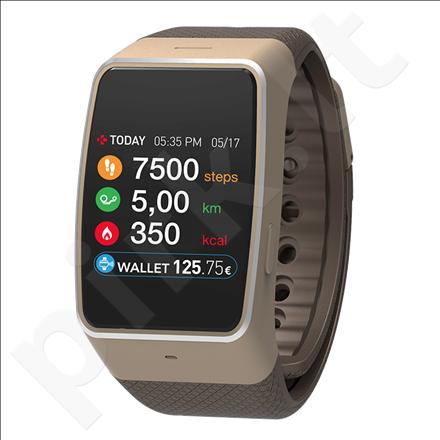 MyKronoz Smartwatch  ZeWatch4  Gold/brown, 200 mAh, Touchscreen, Bluetooth, Waterproof,