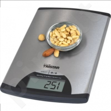 Tristar KW-2435 Kitchen scale, max. 5kg, 1g accuracy, Digital control panel, On/Off switch