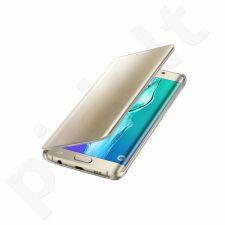 Samsung Galaxy S6 EDGE+ skaidrus atverčiamas dėklas ZG928CFE auksinis