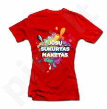 Moteriški marškinėliai su Jūsų sukurtu dizainu