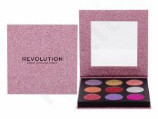 Makeup Revolution London Pressed Glitter, akių šešėliai moterims, 13,5g, (Diva)