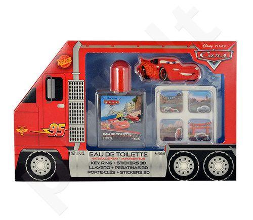 Disney Cars rinkinys vyrams, (EDT 50ml + raktų pakabukas+ 3D stickers)