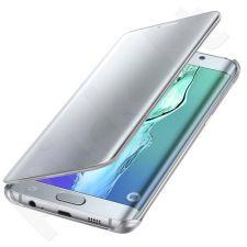 Samsung Galaxy S6 EDGE+ skaidrus atverčiamas dėklas ZG928CSE sidabrinis
