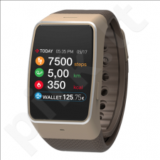 MyKronoz Smartwatch  ZeWatch4  Gold/brown, 200 mAh, Touchscreen, Bluetooth, Heart rate monitor, Waterproof,