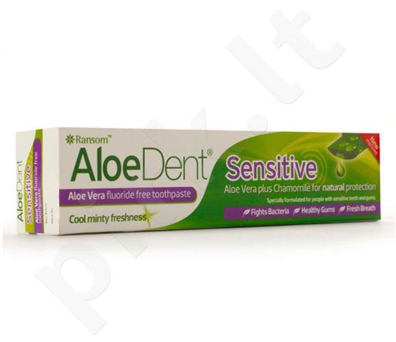 Dantų pasta ALOEDENT SENSITIVE jautrioms dantenoms ir dantims be fluoro, 100 ml