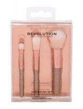 Makeup Revolution London Mini Brush Set, Brushes, rinkinys šepetėlis moterims, (Mini Brush set - 3 pcs)