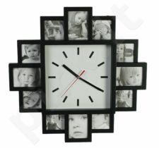 Laikrodis - dvylikos nuotraukų rėmelis