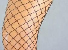 Tinklinės pėdkelnės (didelė akis) 50 denų storio (grafito)