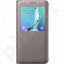 Samsung Galaxy S6 EDGE+ S View dėklas CG928PFE auksinis