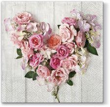Servetėlės en Rose Heart