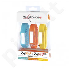MyKronoz Wristbands Bracelets  - 3 Colors Pack  KRZF3PACK3-COLORAMA Blue, Orange, Yellow