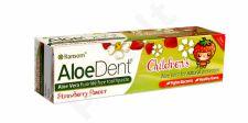 Vaikiška dantų pasta ALOEDENT braškių skonio, 50 ml