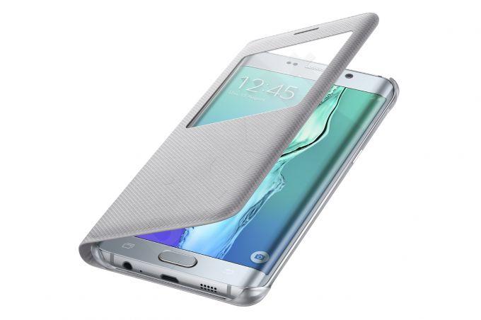 Samsung Galaxy S6 EDGE+ S View dėklas CG928PSE sidabrinis