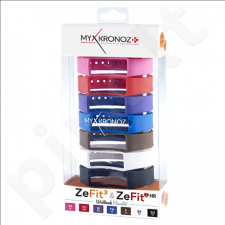 MyKronoz Wristbands Bracelets - 7 Colors Pack  KRZF3PACK7-CLASSIC Black, Blue, Pink, Red, Violet, Brown, White