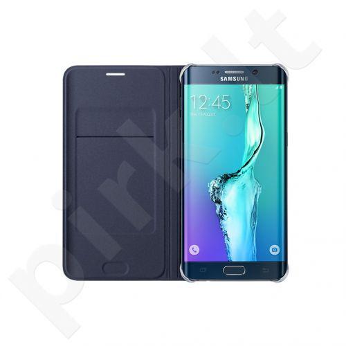 Samsung Galaxy S6 EDGE+ atverčiamas dėklas piniginė WG928PBE juodas