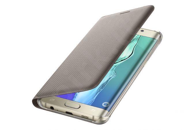Samsung Galaxy S6 EDGE+ atverčiamas dėklas piniginė WG928PFE auksinis