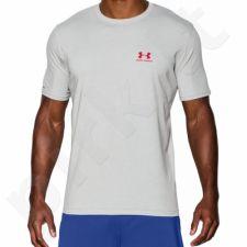 Marškinėliai treniruotėms Under Armour Sportstyle Left Chest Logo T-Shirt M 1257616-025