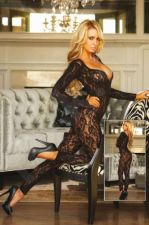 Crotchless Footless Lace Bodystocking ONE SIZE