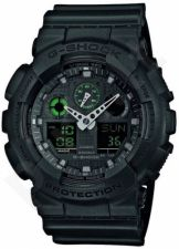 Laikrodis CASIO G-SHOCK GA-100MB-1ADR MISSION BLACK Shock & Magnetic resistant Auto led World time 29 zon 4 daily s Snooze Hourly Time Signal Countdown Timer Full auto-calendar WR 200mt **ORI