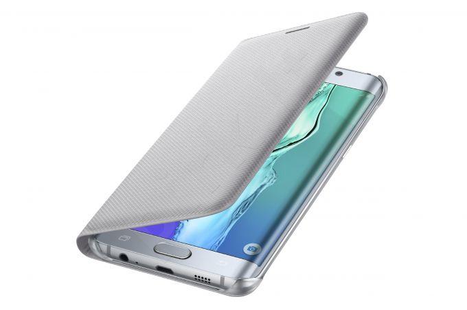 Samsung Galaxy S6 EDGE+ atverčiamas dėklas piniginė WG928PSE sidabrinis
