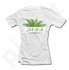 """Moteriški marškinėliai """"Tikra Janina"""""""