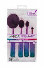 Royal & Langnickel Face Perfecting, Moda Prismatic, rinkinys šepetėlis moterims, (makiažo pagrindas Brush 1 pc + skaistalai Brush 1 pc + Contouring Brush 1 pc + Brush for maskuoklis 1 pc)