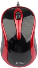 Pelė A4Tech V-TRACK N-350-2 USB Juodai raudona